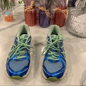 ASICS Blue and Green Sneakers